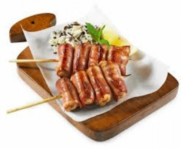 SKEWERED CHICKEN & BACON
