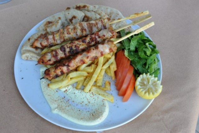 SKEWERED CHICKEN PORTION