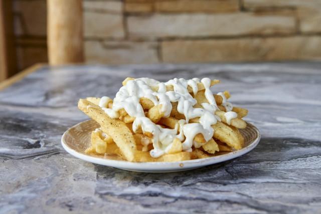 Πατάτες με σως ροκφόρ
