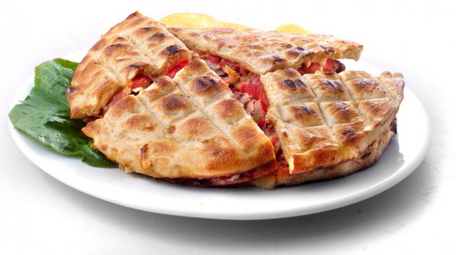 SMALL CALZONE STYLE WITH GYROS PORK